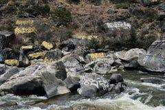 Por completo de la piedra de Armani que talla el valle Imagen de archivo