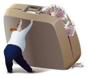 Por completo del dinero. stock de ilustración