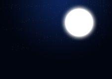 Por completo - luna y estrellas ilustración del vector