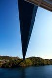 Por debajo el puente de Askoy, Bergen, Noruega Fotos de archivo libres de regalías