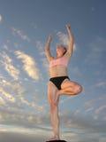 Por do sol 04 da ioga Foto de Stock