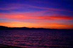 Por do sol 1 de Lake Tahoe Imagem de Stock Royalty Free