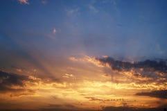 Por do sol 10 Imagem de Stock