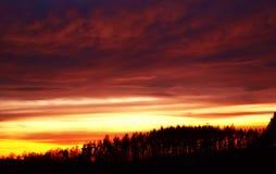 Por do sol Foto de Stock Royalty Free