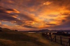Por do sol Fotografia de Stock Royalty Free