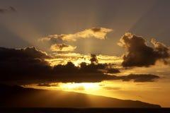 Por do sol Imagem de Stock Royalty Free