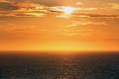 Por do sol Foto de Stock