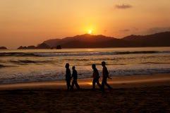 Por do sol Fotografia de Stock