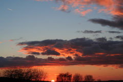Por do sol. Fotos de Stock Royalty Free