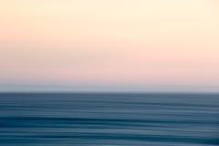 Por do sol abstrato do oceano Fotos de Stock