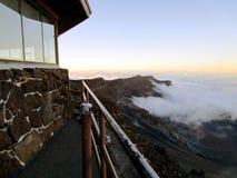 Por do sol acima das montanhas Fotografia de Stock Royalty Free