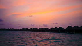 Por do sol acima do Oceano Índico foto de stock royalty free