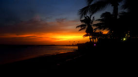 Por do sol alaranjado Imagem de Stock Royalty Free