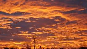 Por do sol alaranjado de Dreamtime fotografia de stock royalty free