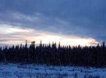 Por do sol do Alasca foto de stock