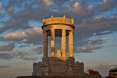 Por do sol Ancona Itália de Passeto Imagem de Stock Royalty Free