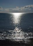 Por do sol ao longo da costa inglesa Imagens de Stock