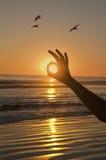 Por do sol aprovado. Fotografia de Stock