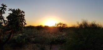 Por do sol do Arizona fotos de stock royalty free