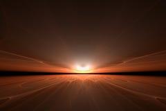 Por do sol artístico Fotografia de Stock