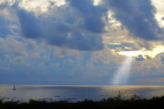 Por do sol Aruba Foto de Stock Royalty Free