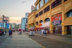 Por do sol Atlantic City Imagens de Stock Royalty Free