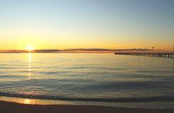 Por do sol australiano do mar Imagem de Stock