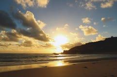 Por do sol australiano do oceano Foto de Stock Royalty Free