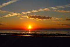 Por do sol Báltico Foto de Stock