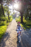 Por do sol Biking Imagem de Stock Royalty Free