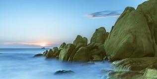 Por do sol Binh Thuan, Vietname Imagem de Stock