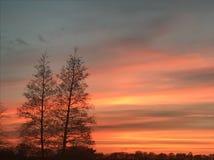 Por do sol bonito Fotos de Stock Royalty Free