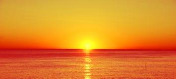 Por do sol bonito Imagens de Stock