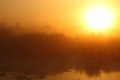 Por do sol bonito Fotos de Stock