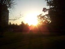 Por do sol bonito Imagens de Stock Royalty Free