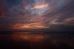 Por do sol bonito Imagem de Stock