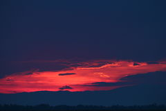 Por do sol bonito Fotografia de Stock