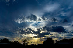 Por do sol bonito foto de stock