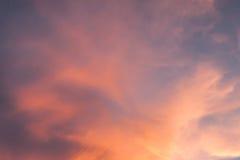 por do sol bonito, céu e nuvens Foto de Stock