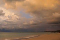 por do sol bonito, céu e nuvens Fotografia de Stock Royalty Free