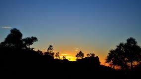 Por do sol bonito, cimeira de Gran canaria Imagem de Stock Royalty Free