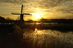Por do sol bonito com cores fantásticas Foto de Stock