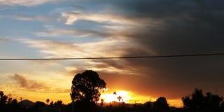 Por do sol bonito de Az maio imagem de stock