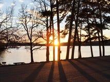 Por do sol bonito de Chattanooga Tennessee Imagens de Stock Royalty Free