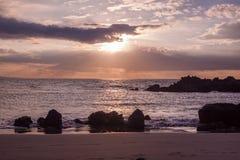 Por do sol bonito de Maui imagens de stock