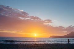Por do sol bonito do mar Imagens de Stock Royalty Free