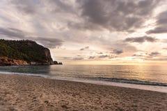 Por do sol bonito em Alanya imagens de stock royalty free