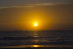 Por do sol bonito em Cala Conta, Ibiza imagem de stock royalty free
