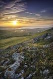 Por do sol bonito em Enisala Imagens de Stock Royalty Free