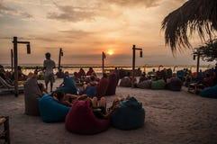Por do sol bonito em Gili Trawangan Fotos de Stock